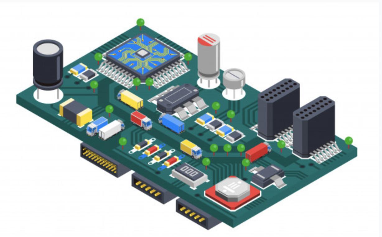 stylized PCB