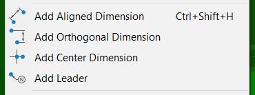 dimension options